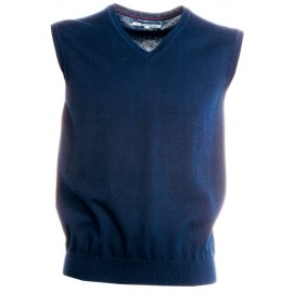 GILET DESK LADY SCOLLO A V BLU NAVY
