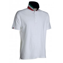 POLO NATION BIANCO ITALIA