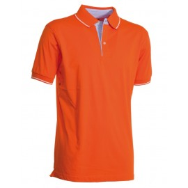 POLO CAMBRIDGE IN JERSEY ARANCIO