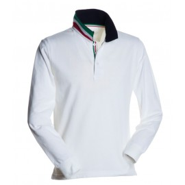 POLO LONG NATION BIANCO ITALIA