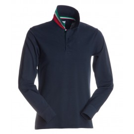 POLO LONG NATION BLU NAVY ITALIA