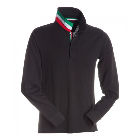 POLO LONG NATION NERO ITALIA