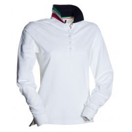 POLO LONG NATION LADY BIANCO ITALIA