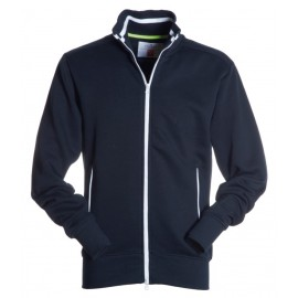 FELPA JUNIOR FULL ZIP BLU NAVY BIANCO