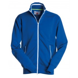 FELPA JUNIOR FULL ZIP BLU ROYAL BIANCO