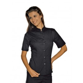 CAMICIA HOLLYWOOD DONNA NERO MANICA CORTA
