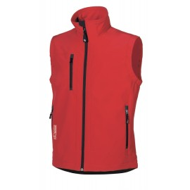 GILET CLIMB SOFT SHELL RED MAGMA