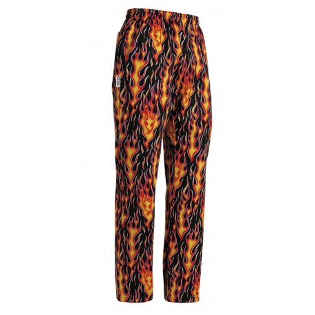 PANTALONE CUOCO COULISSE FLAMES RA 202110