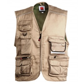 GILET POCKET KAKI