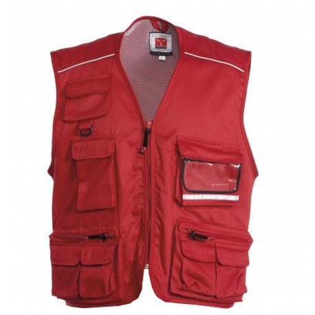 GILET POCKET MULTITASCHE CON PIPING REFLEX