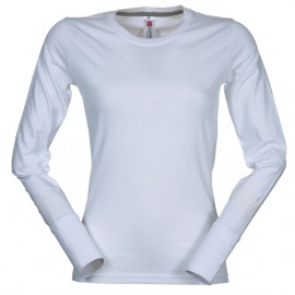 T-SHIRT PINETA LADY MANICA LUNGA BIANCO