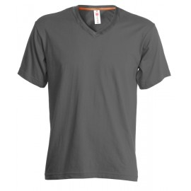 T-SHIRT V-NECK UOMO COLLO A V SMOKE