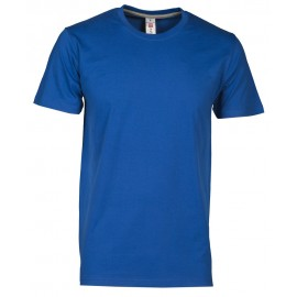 T-SHIRT SUNSET COLORI SCURI BLU ROYAL