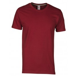 T-SHIRT SUNSET COLORI SCURI BORDEAUX