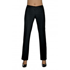 PANTALONE DONNA TRENDY NERO SUPER STRETCH POLIESTERE