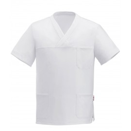 CASACCA COLLO A V LEONARDO WHITE AIR PLUS M/M