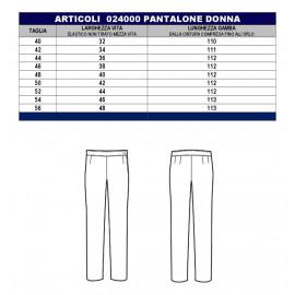 PANTALONE DONNA NERO IS 024000