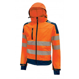 GIACCA SOFT SHELL MIKY ORANGE FLUO