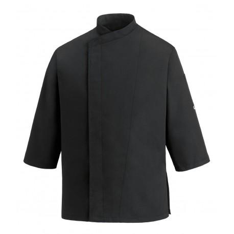 GIACCA CUOCO BLACK 3/4 SLEEVES RA 104020