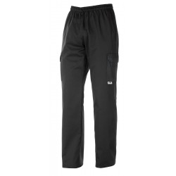 PANTALONE COULISSE TASCHE LATERALI BLACK