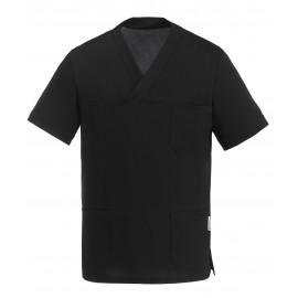 CASACCA COLLO A V LEONARDO BLACK AIR PLUS M/M