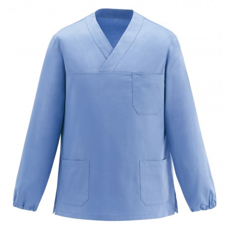 CASACCA COLLO A V LEONARDO M/L LIGHT BLUE